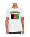 T shirt met afghaanse vlag wit heren