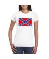 T shirt met amerikaanse zuidelijke staten vlag wit dames