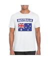T shirt met australische vlag wit heren