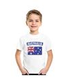 T shirt met australische vlag wit kinderen