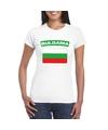 T shirt met bulgaarse vlag wit dames