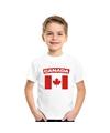 T shirt met canadese vlag wit kinderen
