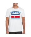 T shirt met costa ricaanse vlag wit heren