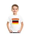 T shirt met duitse vlag wit kinderen