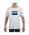 T shirt met estlandse vlag wit kinderen