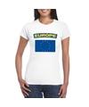 T shirt met europese vlag wit dames