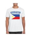 T shirt met filipijnse vlag wit heren