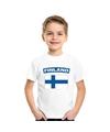 T shirt met finse vlag wit kinderen