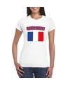 T shirt met franse vlag wit dames