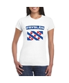T shirt met friese vlag wit dames