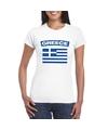 T shirt met griekse vlag wit dames