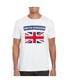 T shirt met groot brittannie engelse vlag wit heren