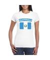 T shirt met guatemalaanse vlag wit dames