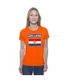 T shirt met hollandse vlag oranje dames