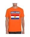 T shirt met hollandse vlag oranje heren