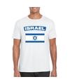 T shirt met israelische vlag wit heren