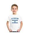 T shirt met israelische vlag wit kinderen