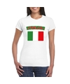 T shirt met italiaanse vlag wit dames