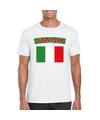 T shirt met italiaanse vlag wit heren