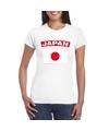 T shirt met japanse vlag wit dames