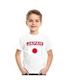 T shirt met japanse vlag wit kinderen