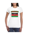 T shirt met keniaanse vlag wit dames