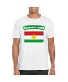 T shirt met koerdistaanse vlag wit heren