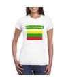 T shirt met litouwse vlag wit dames