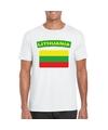 T shirt met litouwse vlag wit heren