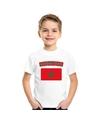 T shirt met marokkaanse vlag wit kinderen