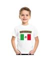 T shirt met mexicaanse vlag wit kinderen