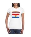 T shirt met nederlandse vlag wit dames