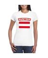 T shirt met oostenrijkse vlag wit dames
