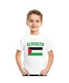 T shirt met palestijnse vlag wit kinderen
