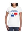 T shirt met panamese vlag wit dames