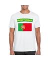 T shirt met portugese vlag wit heren