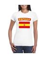 T shirt met spaanse vlag wit dames