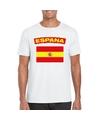 T shirt met spaanse vlag wit heren