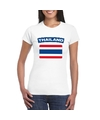 T shirt met thaise vlag wit dames