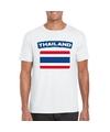 T shirt met thaise vlag wit heren