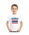 T shirt met thaise vlag wit kinderen