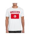 T shirt met tunesische vlag wit heren