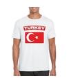 T shirt met turkse vlag wit heren