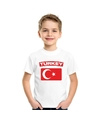 T shirt met turkse vlag wit kinderen