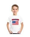 T shirt met usa amerikaanse vlag wit kinderen