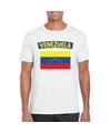 T shirt met venezolaanse vlag wit heren