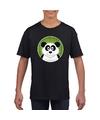 T shirt panda zwart kinderen