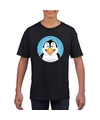 T shirt pinguin zwart kinderen