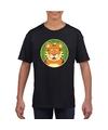 T shirt tijger zwart kinderen