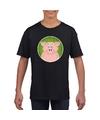 T shirt varken zwart kinderen